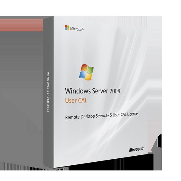 Microsoft Windows Server 2008 Remote Desktop Service - 5 User CAL License