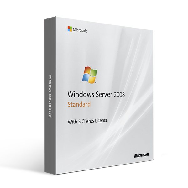Microsoft Windows Server 2008 Standard With 5 Clients License