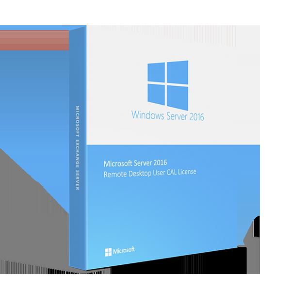 Microsoft Windows Server 2016 Remote Desktop User CAL License