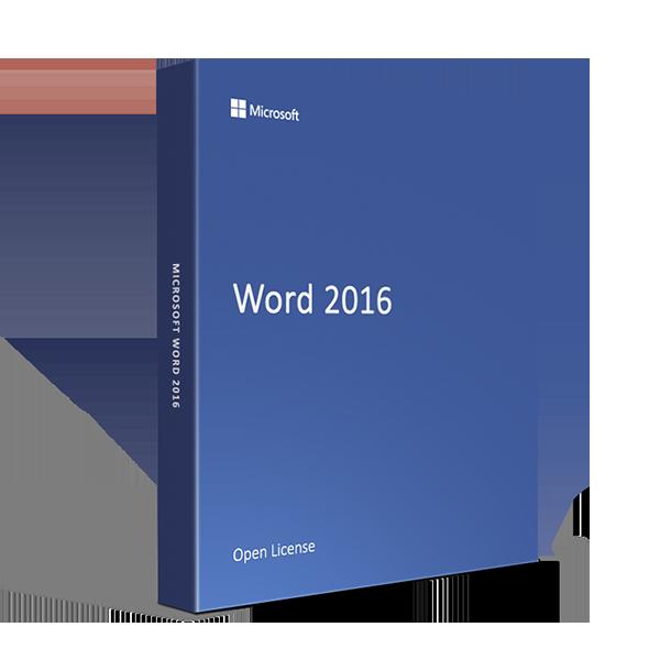 Microsoft Word 2016 Open License