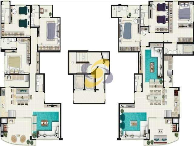 Apartamento 3 suítes à venda: 3 garagens, lazer completo e pronto para morar