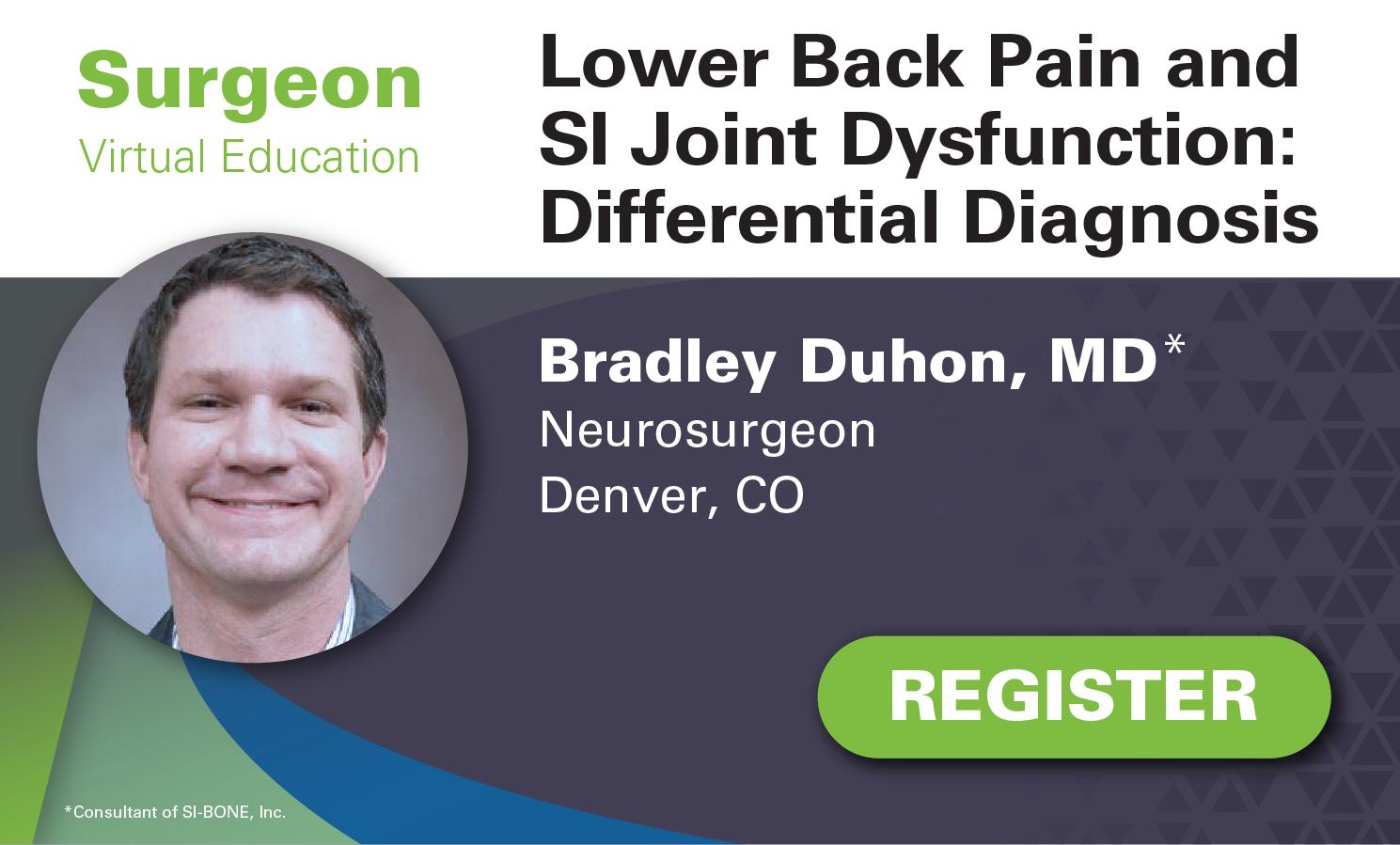 Virtual Ed - Apr 13 - Duhon - LBP & SIJF Differential Diagnosis