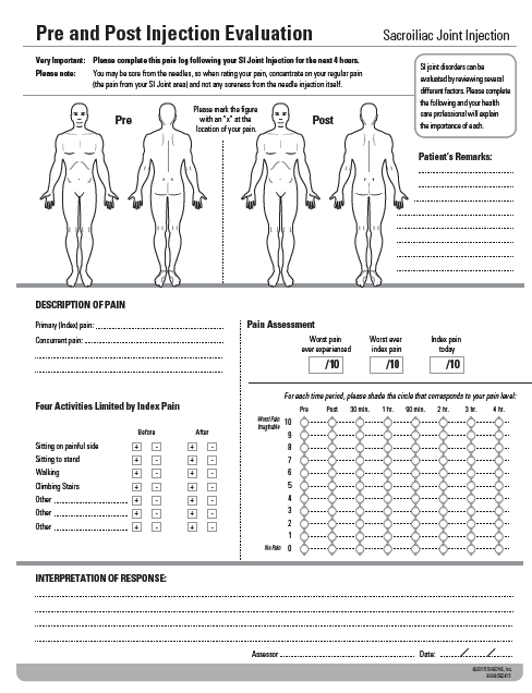 SI Joint Diagnostic Injection Worksheet