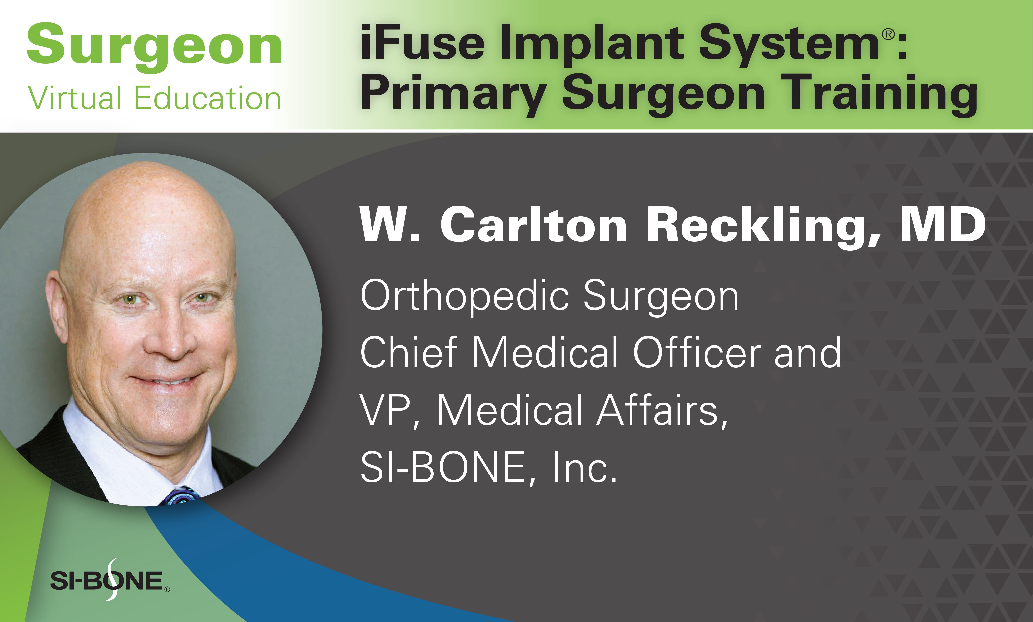 May 27 Primary Surgeon Training Virtual Educational Webinar