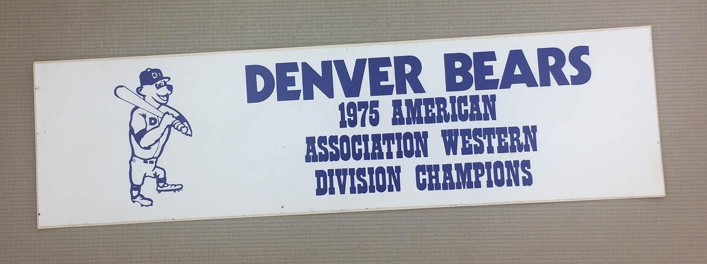 Denver Bears 1975 Bumper Sticker
