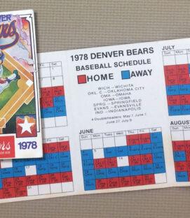 Denver Bears 1978 Schedule