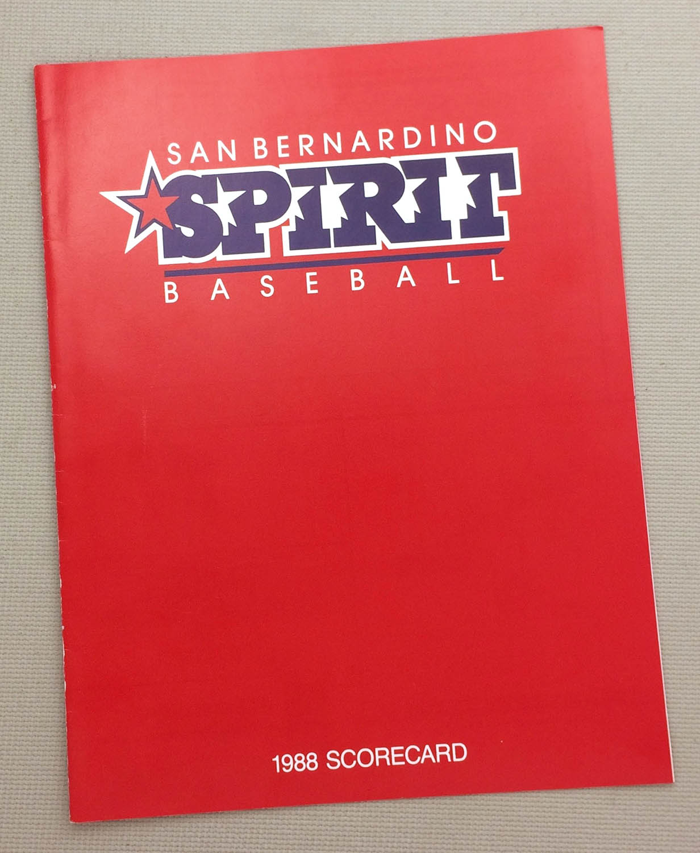 San Bernardino Spirit 1988 Scorecard