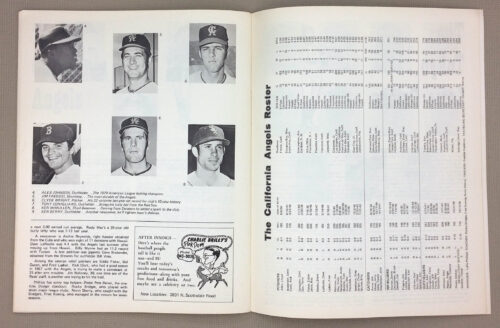 California Angels 1971 Roster