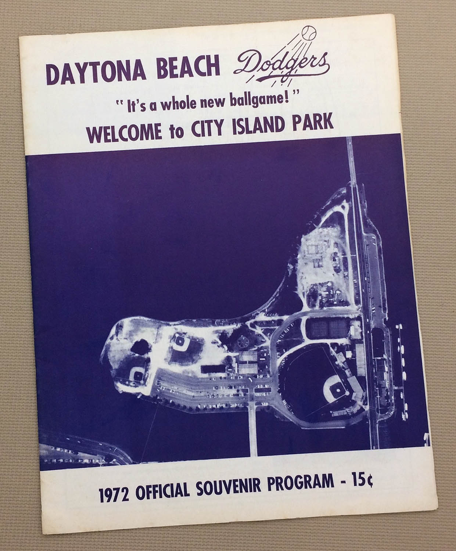 Daytona Beach Dodgers 1972 Program
