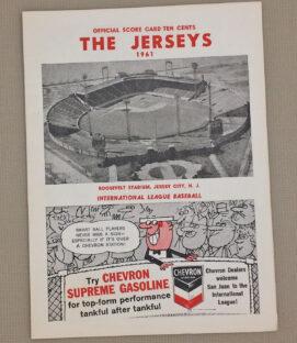 Jersey City Giants 1961 Baseball Program