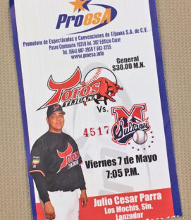 Tijuana Toros Monterrey Sultanes 2004 Ticket Stub