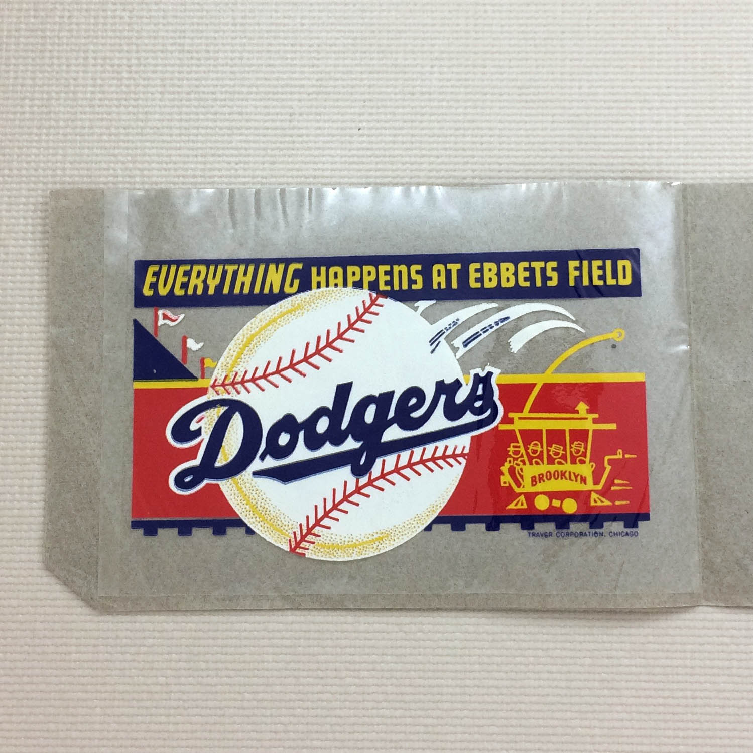 1940s Brooklyn Dodgers Clear Decal
