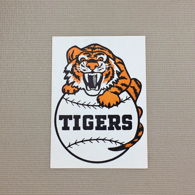 1940s Vintage Detroit Tigers Decal
