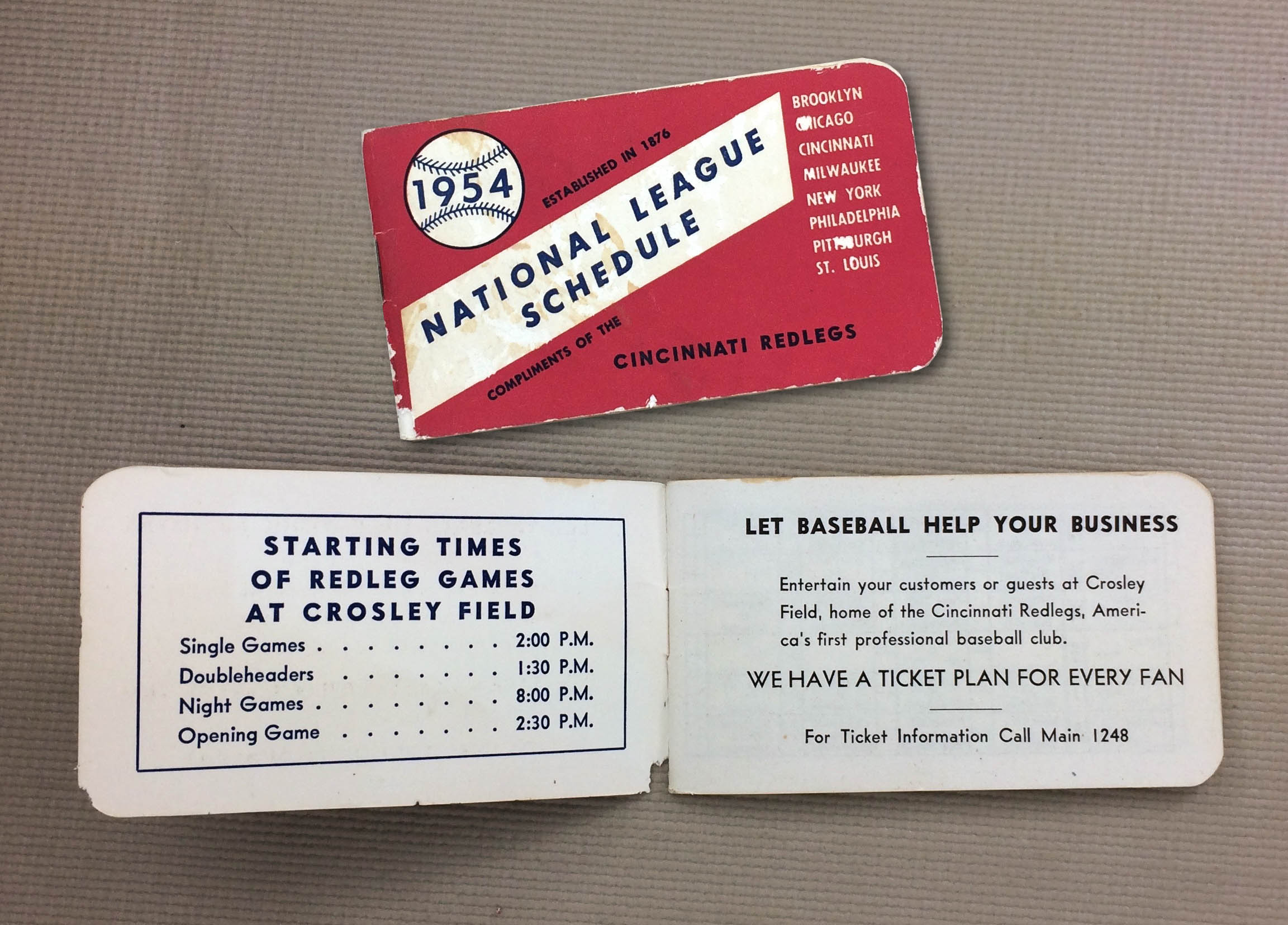 1954 Spalding National League Schedule