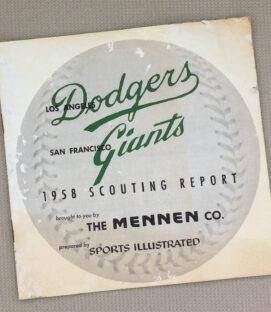 Mennen 1958 Dodgers Giants Guide