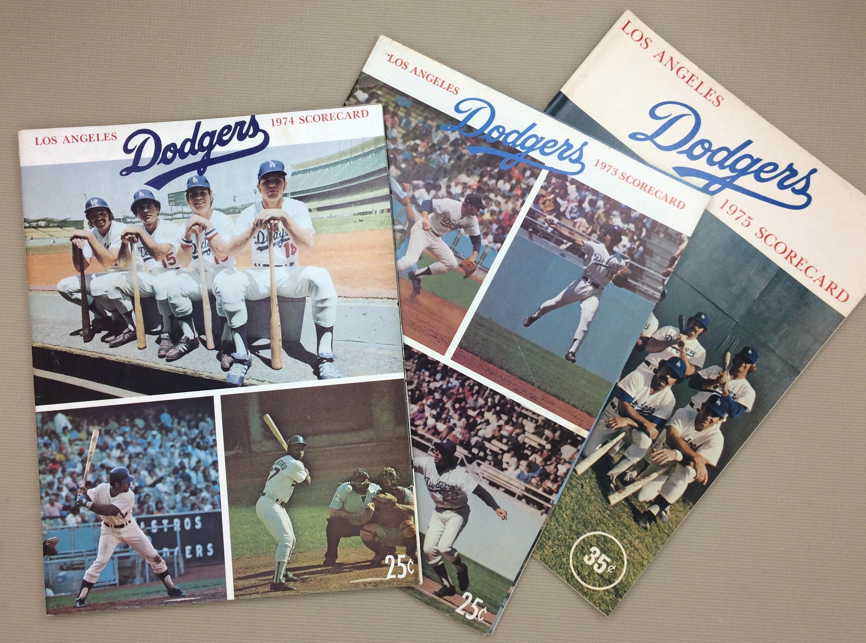 Dodgers 1970s Scorecard 3-Pack