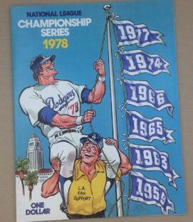 1978 NLCS Dodgers Program
