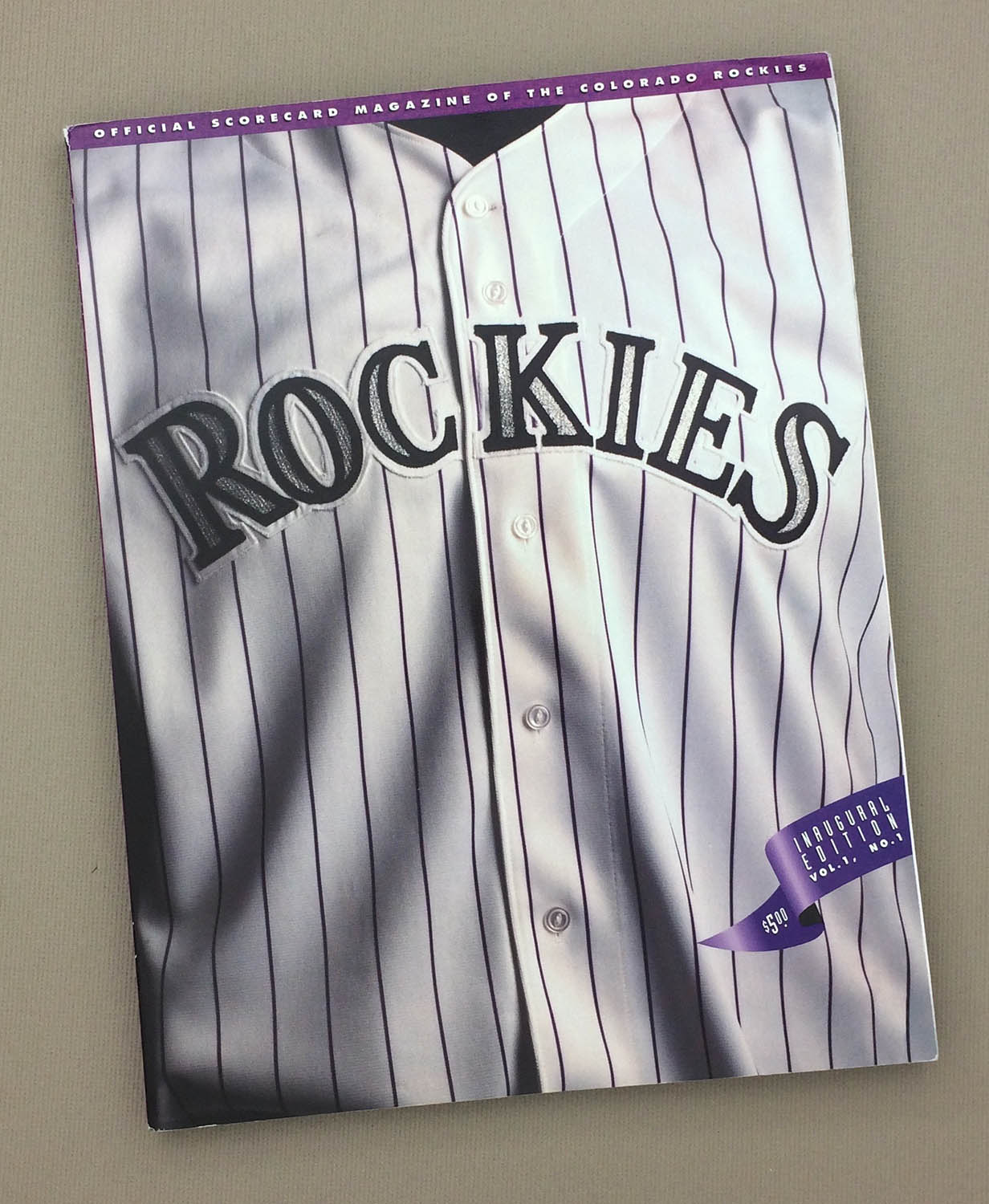 Colorado Rockies '93 Inaugural scorecard