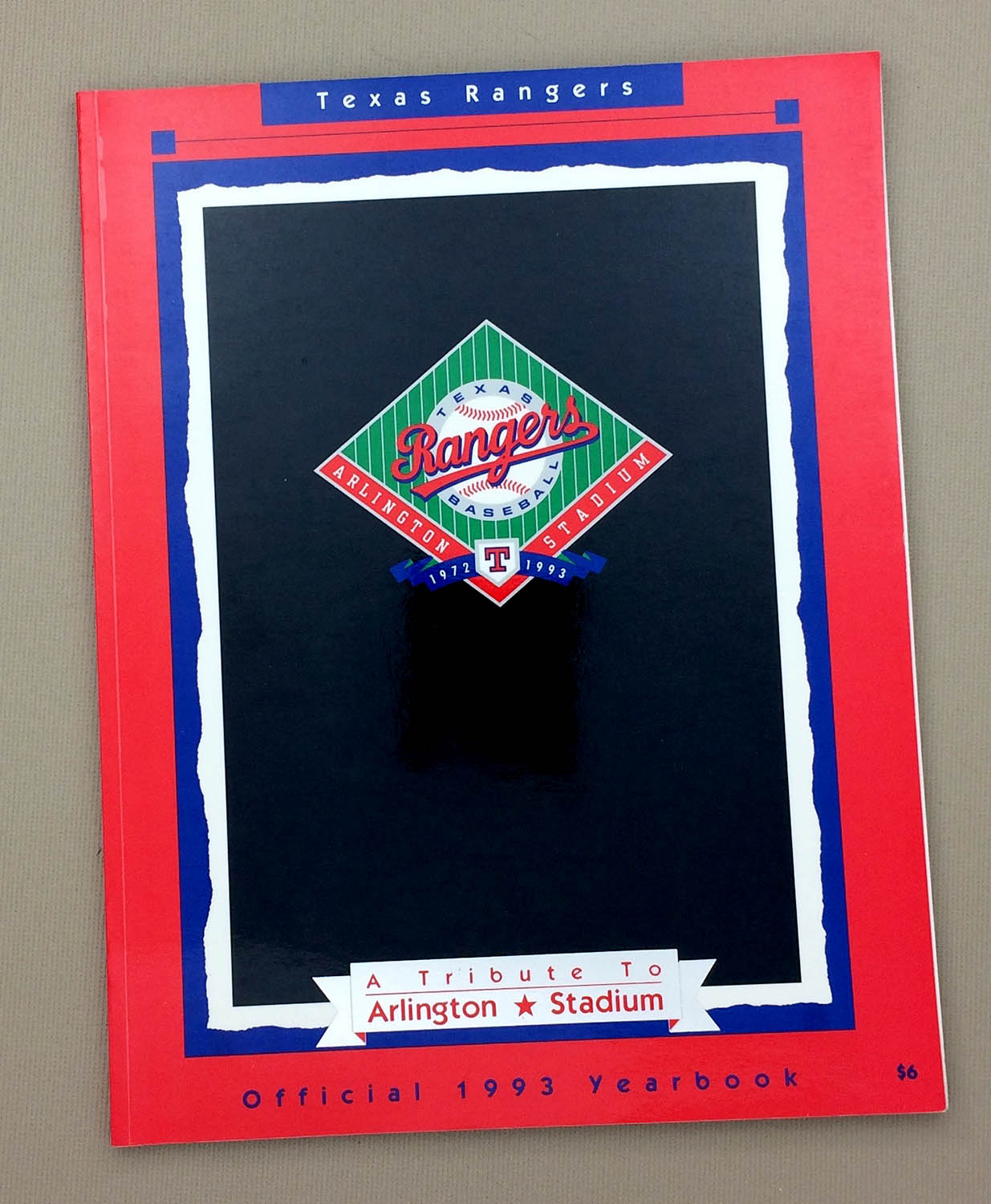 Texas Rangers 1993 Yearbook