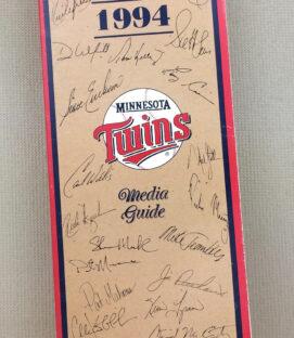 Minnesota Twins 1994 Media Guide