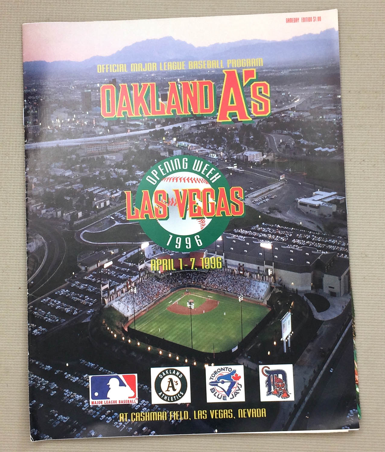 Oakland Athletics 1996 Las Vegas Program