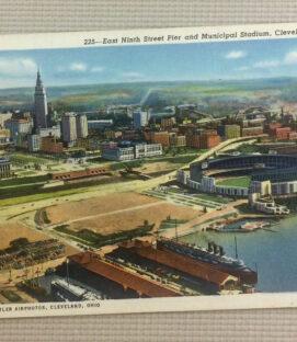 Vintage Cleveland Municipal Stadium Postcard 225