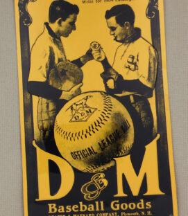 D&M Baseball Goods Metal Sign