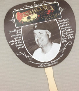 1980 Dodgers Duke Snyder fan promotion