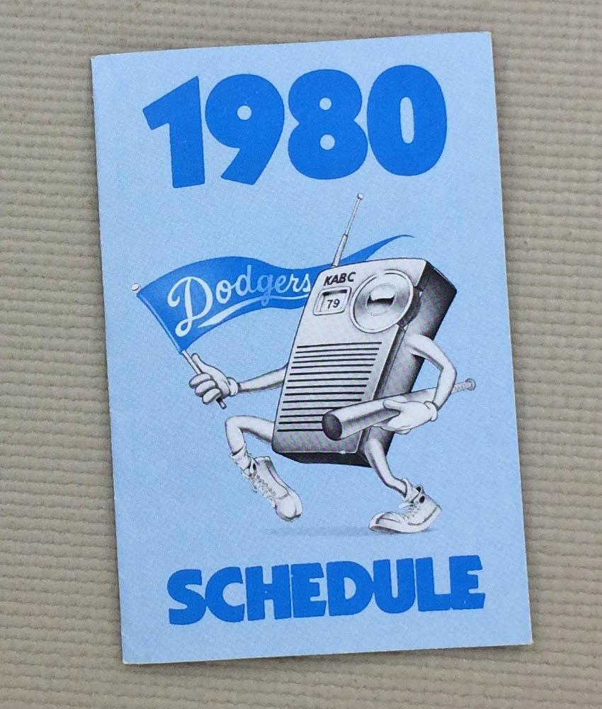 1980 Los Angeles Dodgers Schedule