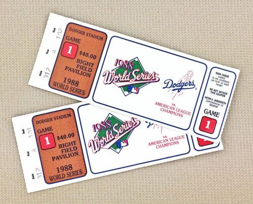 Dodgers World Series 1988 Tickets