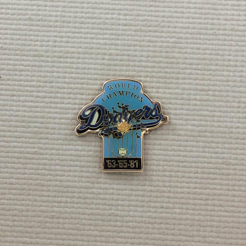 Dodgers World Series Champion 63 65 & 81 Pin
