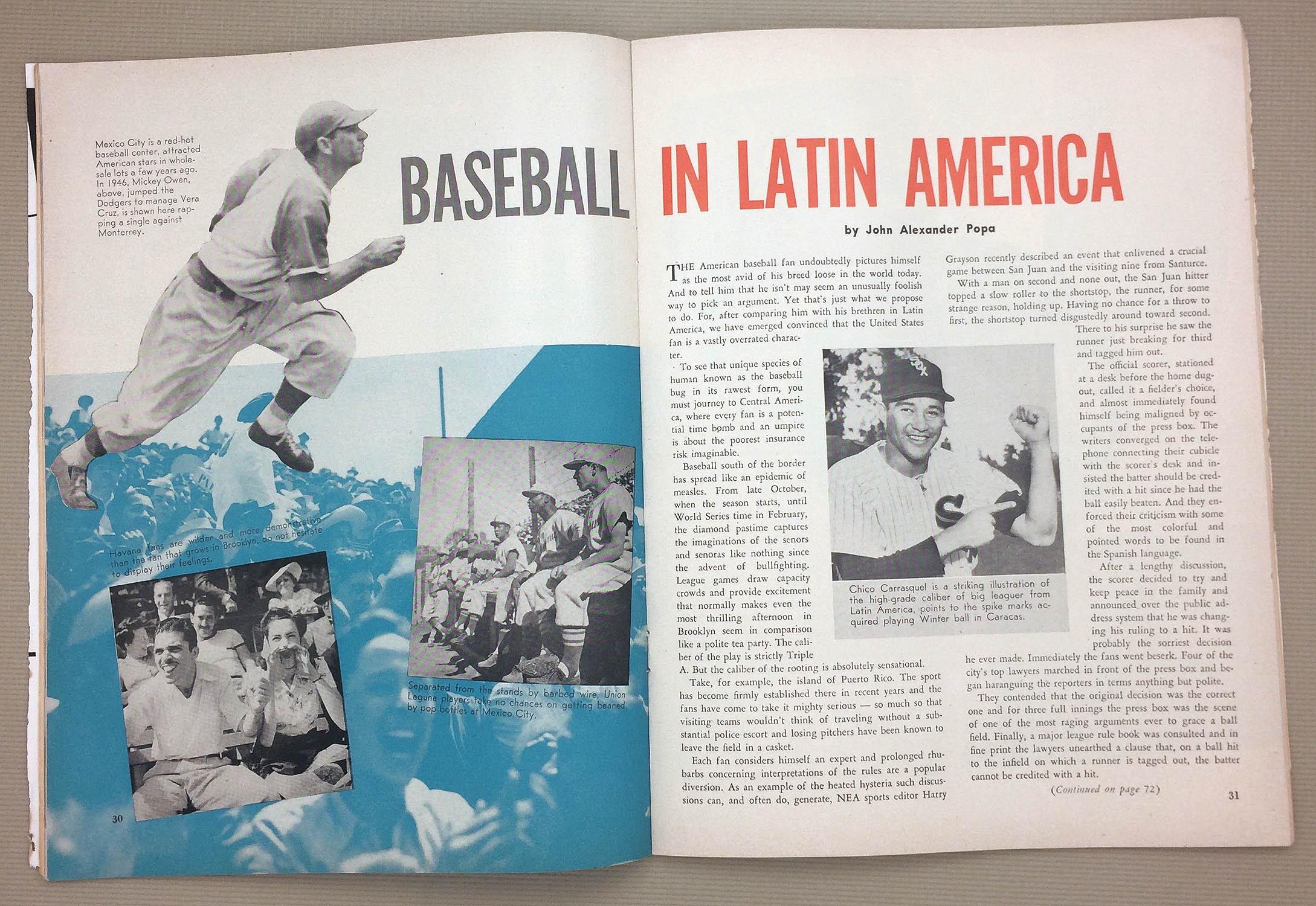 Baseball in Latin America 1952