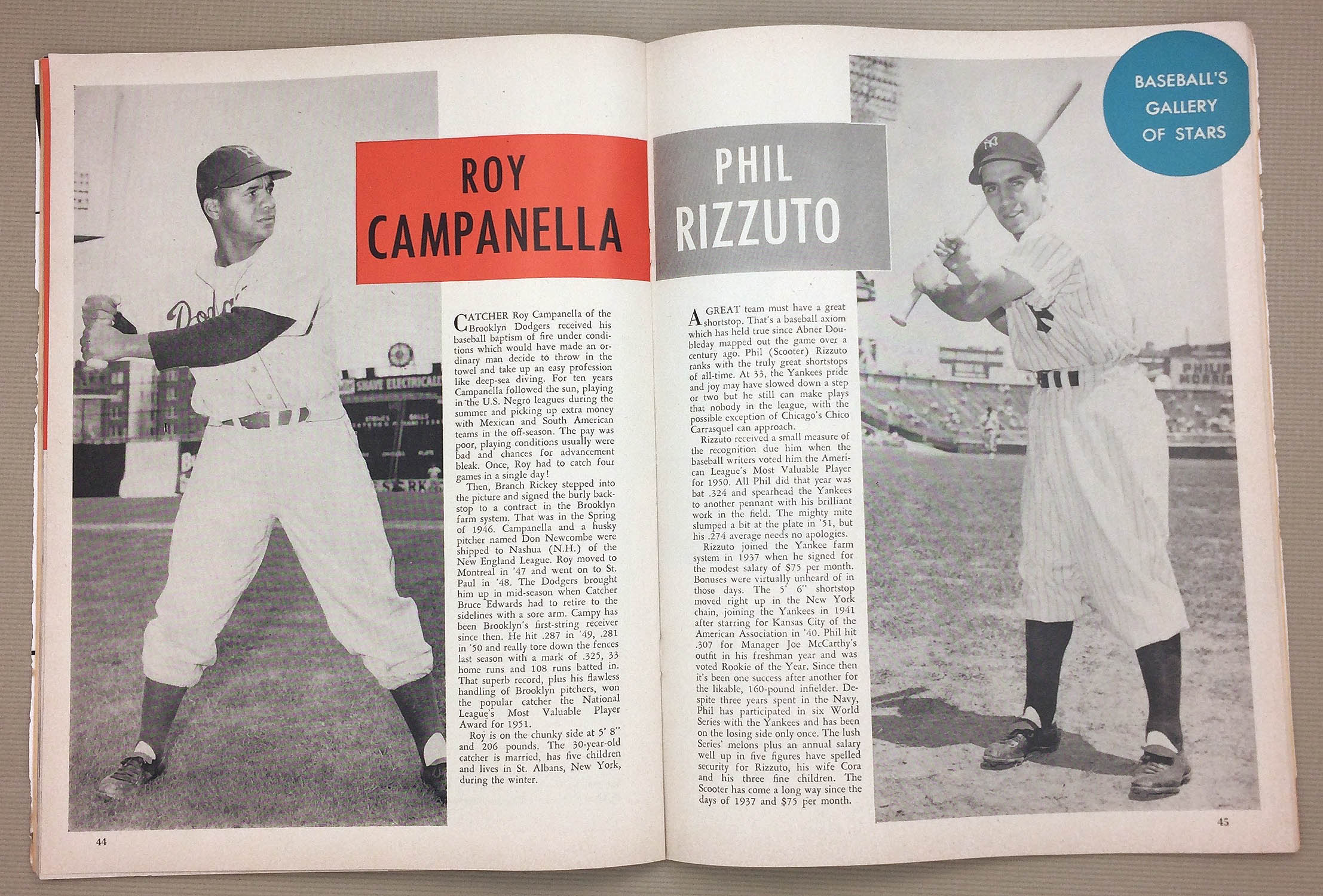 Roy Campanella Phil Rizzuto