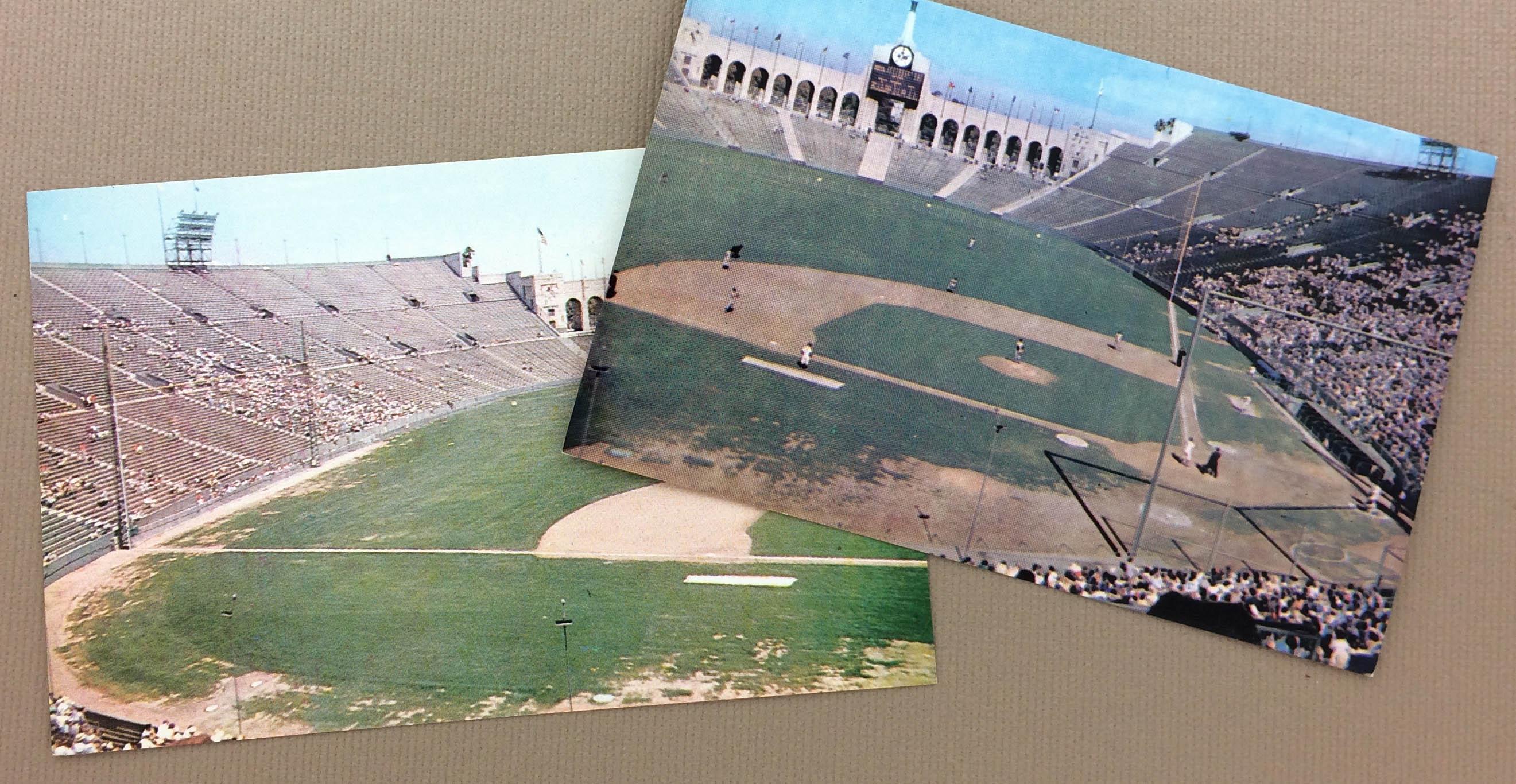LA Coliseum Dodgers Postcard Set