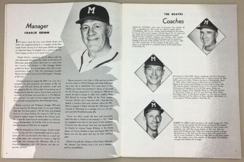 Milwaukee Braves Charlie Grimm