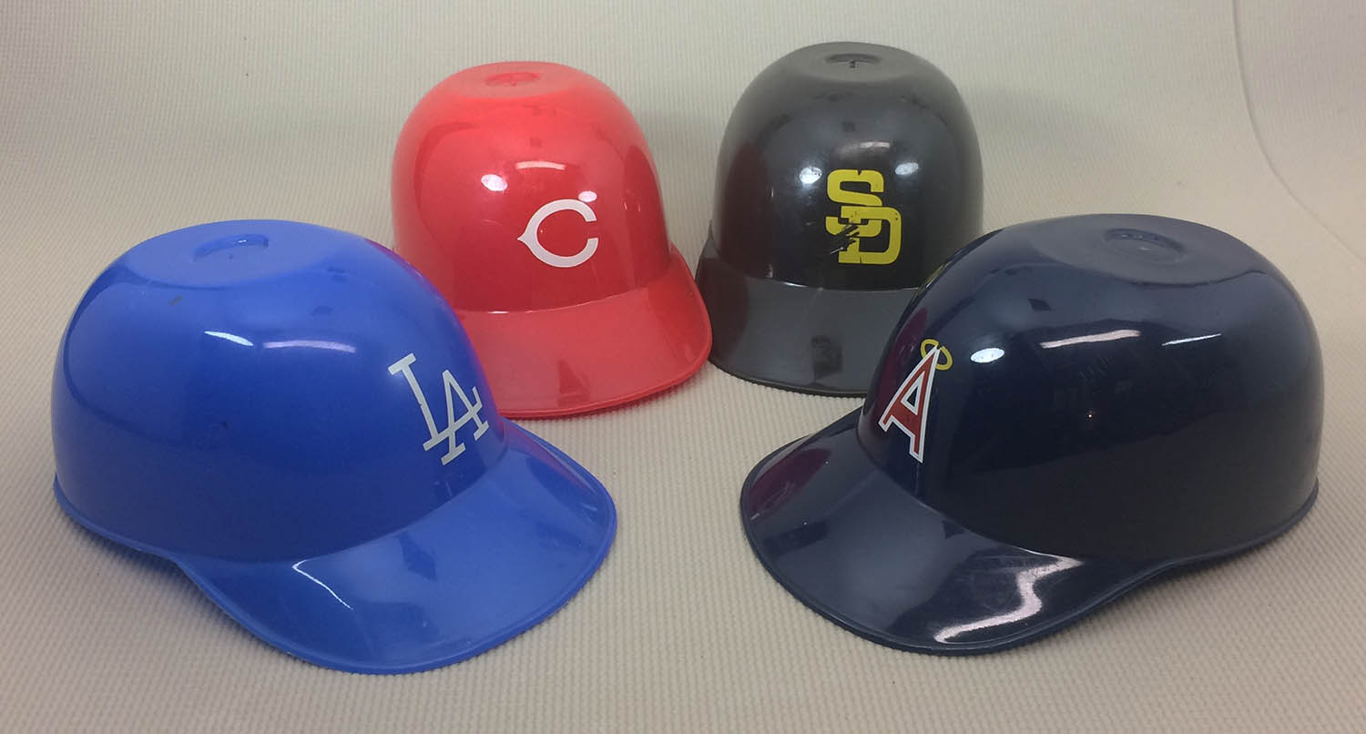 Dodgers, Angels, Reds, Padres Mini Helmets