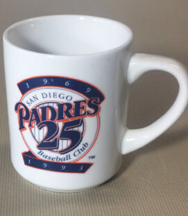 San Diego Padres 25th Anniversary Mug