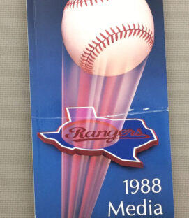 Texas Rangers 1988 Media Guide