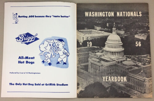 Washington Nationals 1956 Yearbook