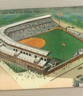 Vintage Wrigley Field Postcard