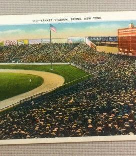 Vintage Yankee Stadium Postcard 42203