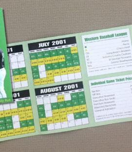 Yuma Bullfrogs 2001 Schedule