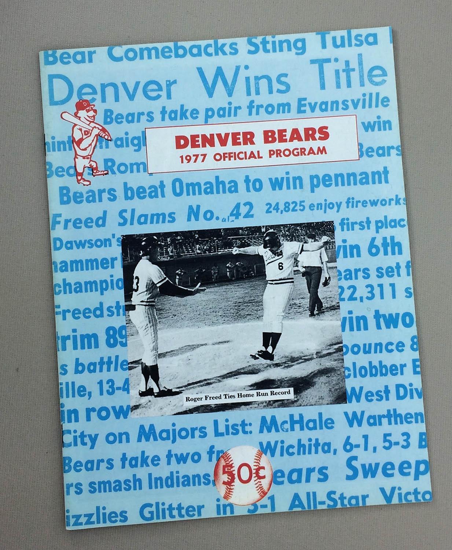 Denver Bears 1977 Program