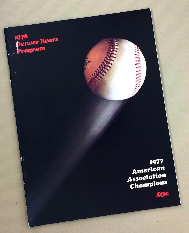 Denver Bears 1978 Program