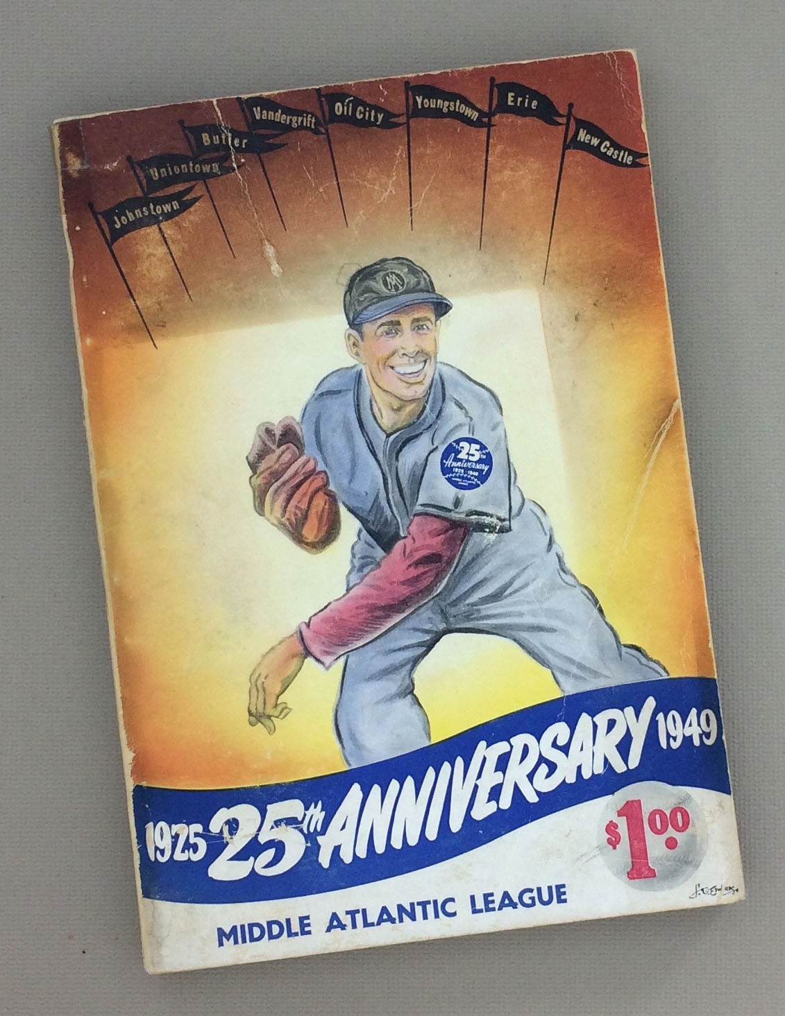 1949 Middle Atlantic League 25th Anniversary Baseball Guide Record Book