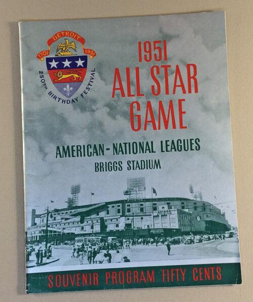 Baseball All Star Game 1951 Program