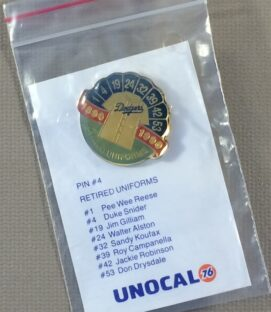 Los Angeles Dodgers 1992 Retired Uniforms Commemorative Pin