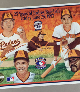 San Diego Padres 25 Year Limited Edition poster
