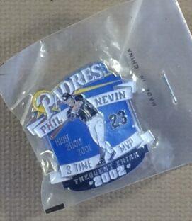 San Diego Padres Phil Nevin 3-Time-MVP Commemorative Pin
