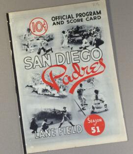San Diego Padres 1951 Program